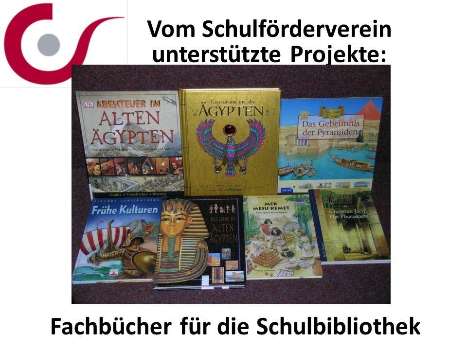 Vom Schulförderverein unterstützte Projekte: Fachbücher für die Schulbibliothek