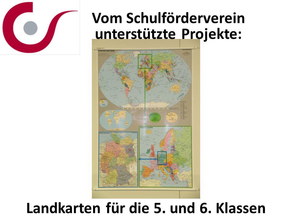 Vom Schulförderverein unterstützte Projekte: Landkarten für die 5. und 6. Klassen