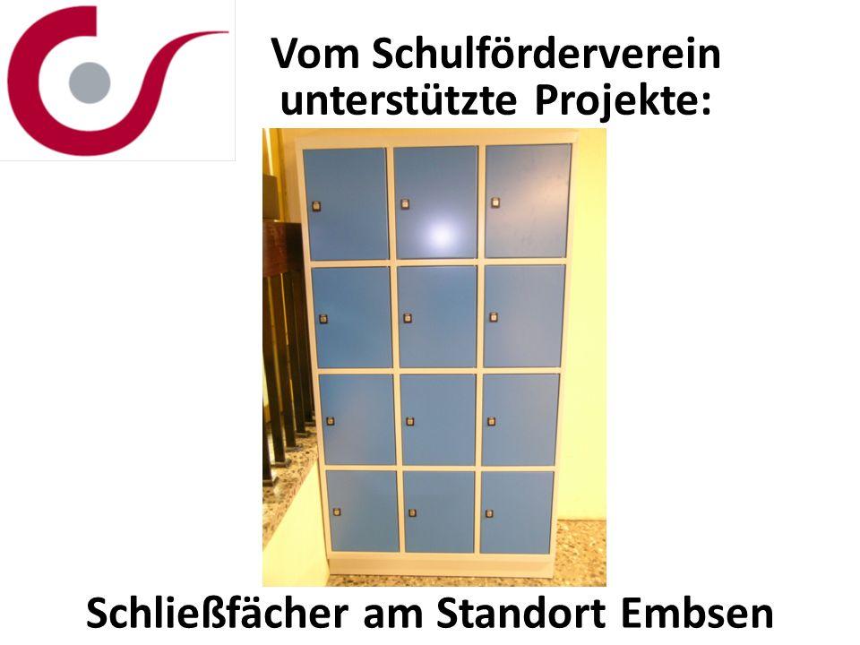 Vom Schulförderverein unterstützte Projekte: Schließfächer am Standort Embsen