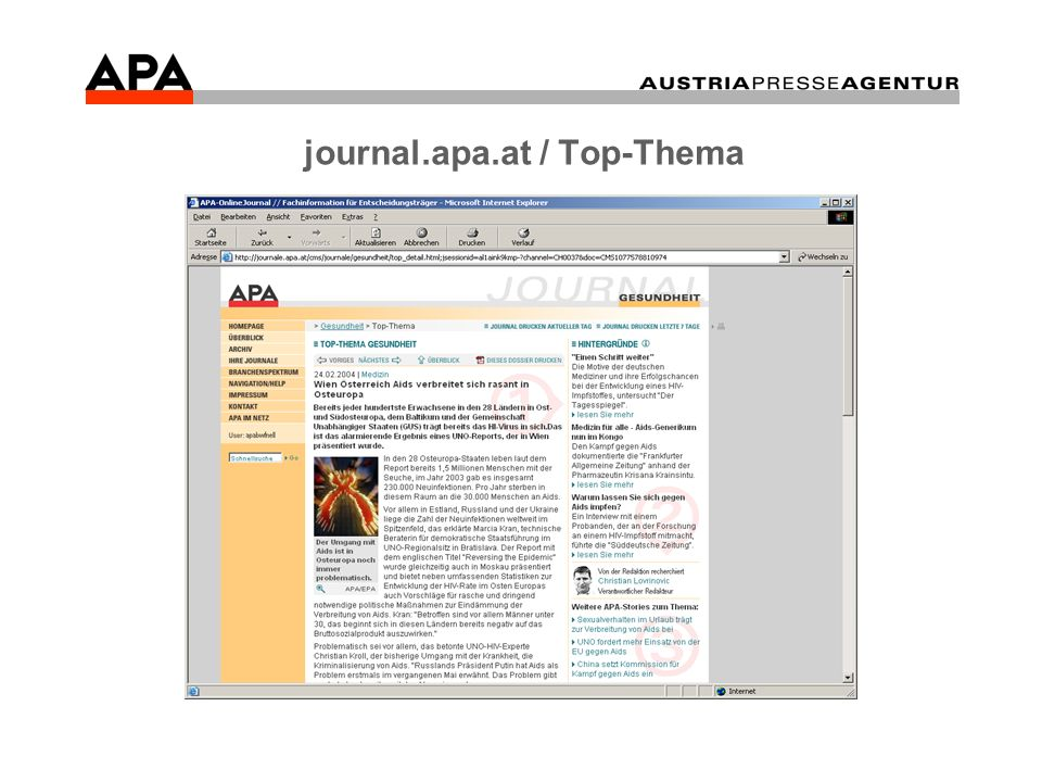 journal.apa.at / Top-Thema