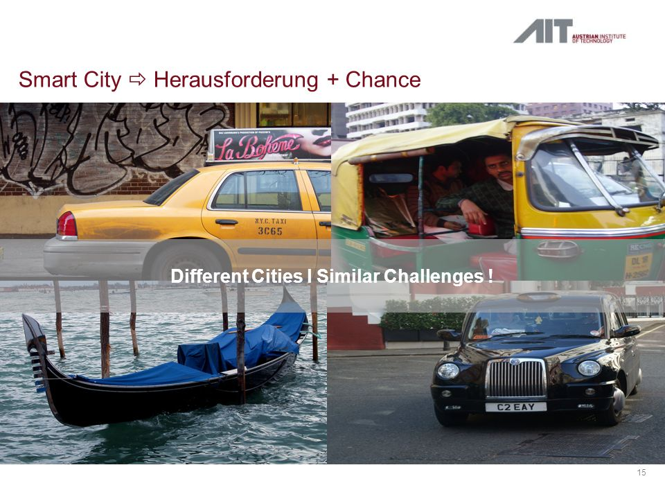 Smart City Herausforderung + Chance 15 Different Cities l Similar Challenges !