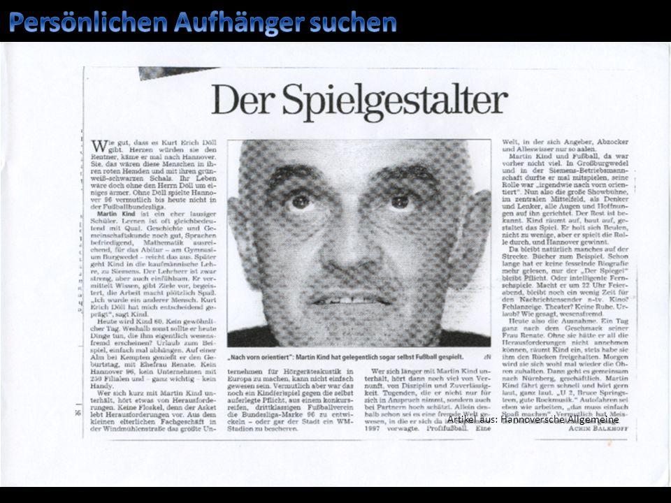 Artikel aus: Hannoversche Allgemeine