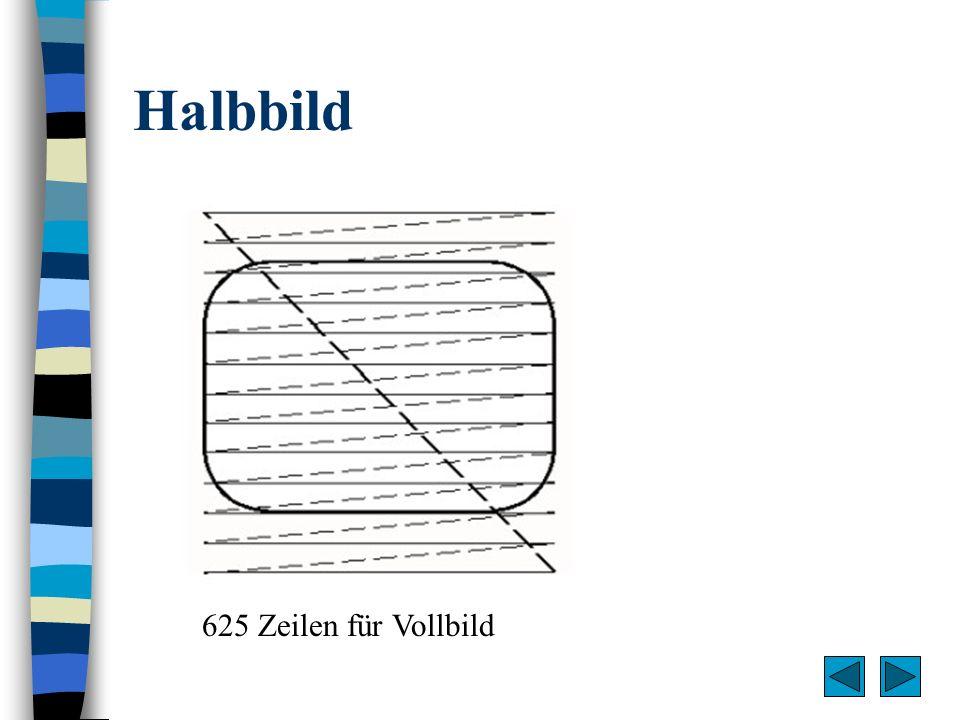 Halbbild 625 Zeilen für Vollbild
