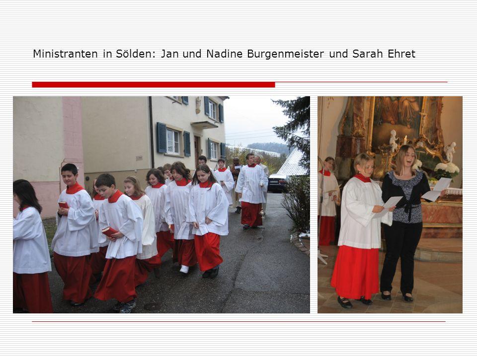 Ministranten in Sölden: Jan und Nadine Burgenmeister und Sarah Ehret