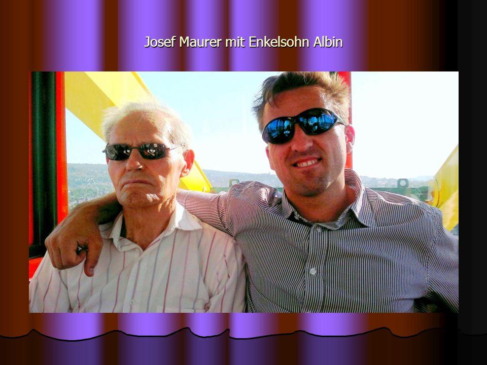 Josef Maurer mit Enkelsohn Albin