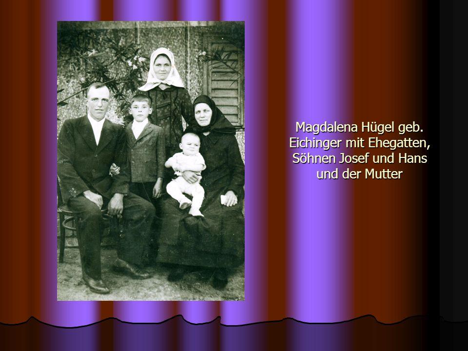 Margaretha Pechler geb.Pechler beim Melonenkauf mit Neffe Josef Grund.