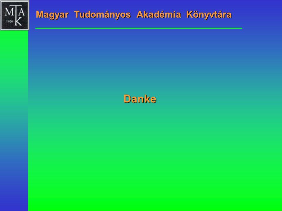 Danke Magyar Tudományos Akadémia Könyvtára
