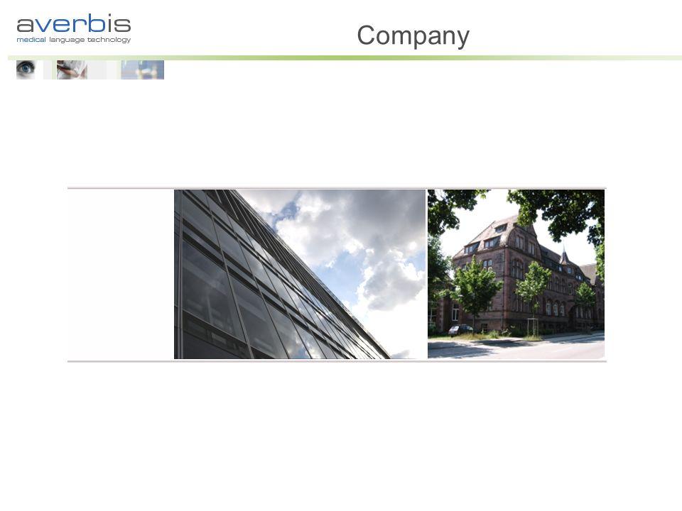 Averbis GmbH Founded in April 2007 Based in Freiburg im Breisgau Team of experts in medicine and computer sciences Averbis GmbH Shareholders Kornél Markó Philipp Daumke Campus Technologies Freiburg GmbH, Universitätsklinikum Freiburg Directors Kornél Markó Philipp Daumke Scientific Board Prof.