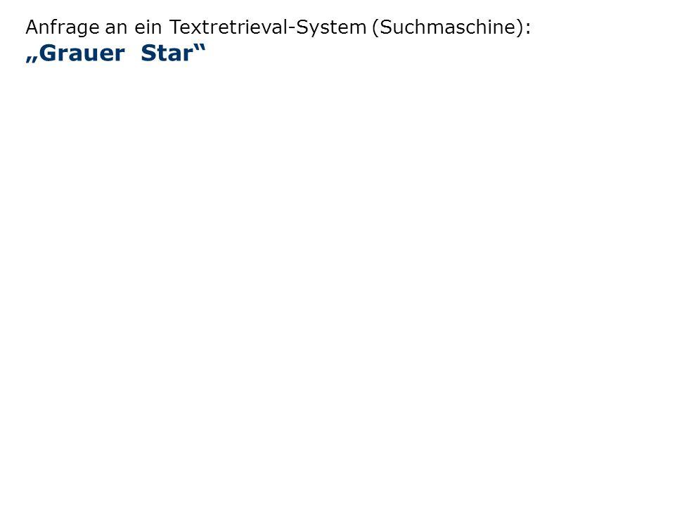 Anfrage an ein Textretrieval-System (Suchmaschine): Grauer Star