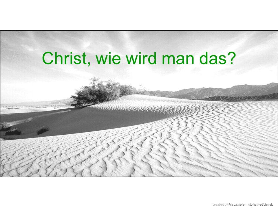 Christ, wie wird man das? created by Prisca Meier Alphalive Schweiz