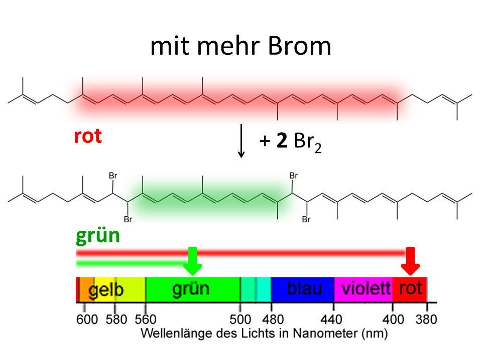 + 2 Br 2 rot grün mit mehr Brom