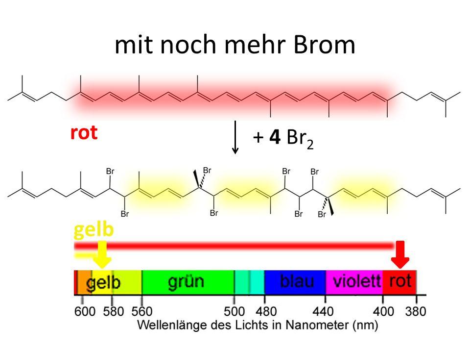 + 4 Br 2 rot gelb mit noch mehr Brom