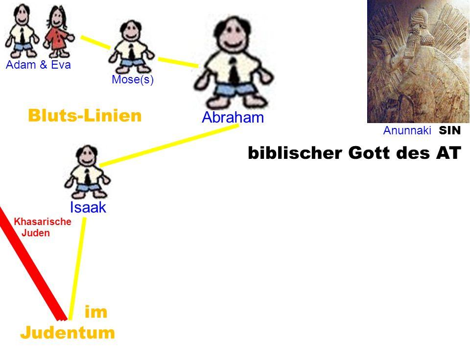 Isaak Anunnaki SIN Adam & Eva Mose(s) Abraham Judentum biblischer Gott des AT Bluts-Linien im Khasarische Juden