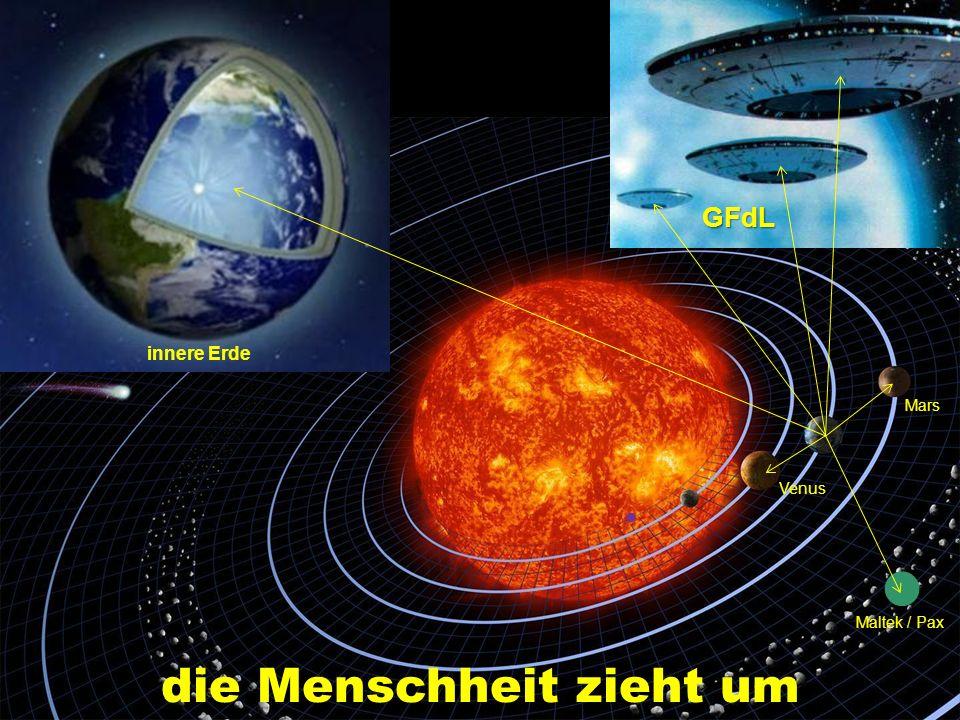 die Menschheit zieht um innere Erde Mars Venus Maltek / Pax GFdL