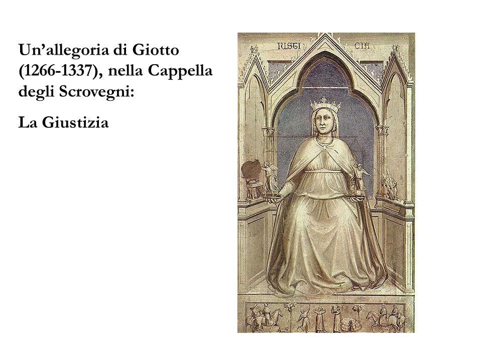 Unallegoria di Giotto (1266-1337), nella Cappella degli Scrovegni: La Giustizia