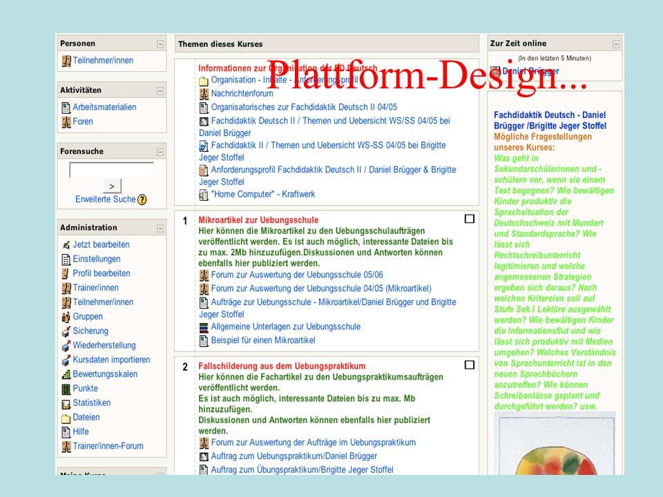 Plattform-Design...