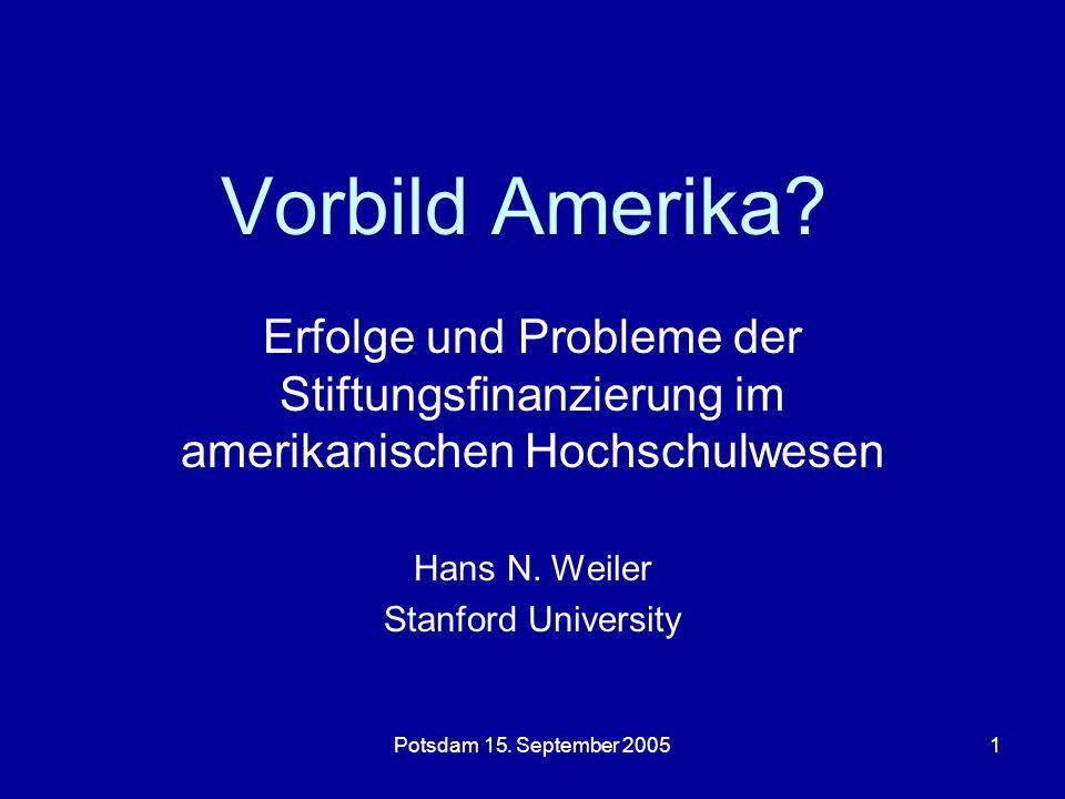 Potsdam 15.September 20051 Vorbild Amerika.