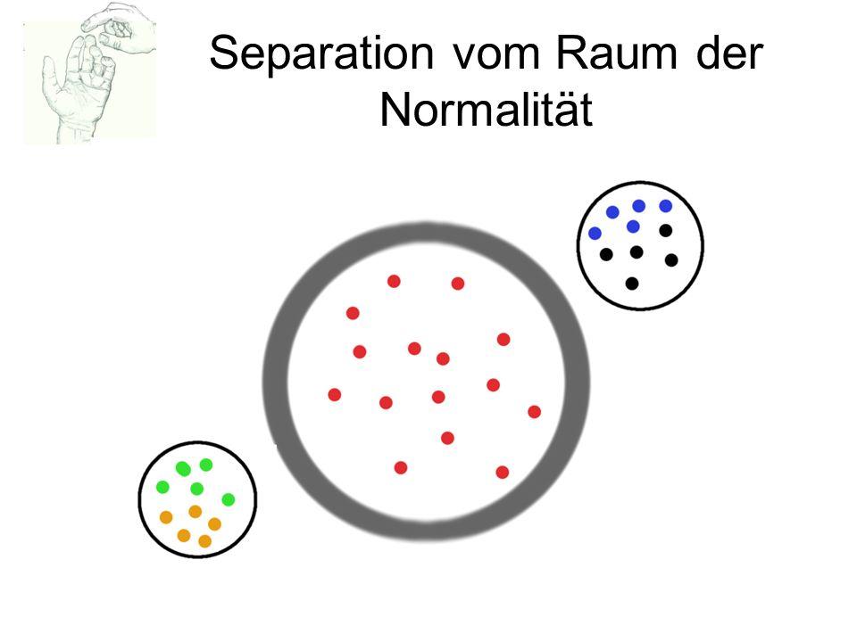 Separation vom Raum der Normalität