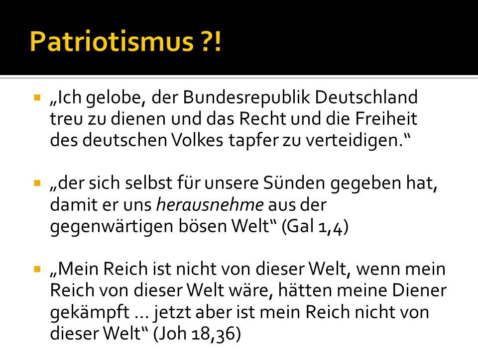 Ich gelobe, der Bundesrepublik Deutschland treu zu dienen und das Recht und die Freiheit des deutschen Volkes tapfer zu verteidigen. der sich selbst f