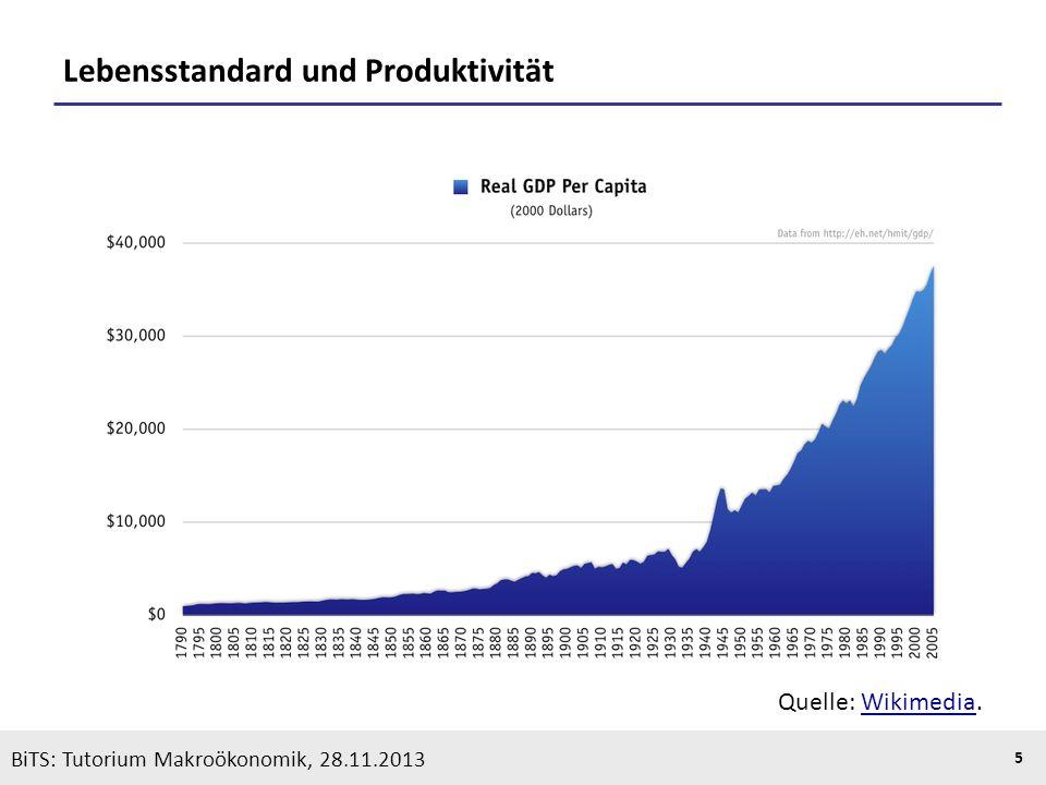 KOOTHS | BiTS: Makroökonomik WS 2013/2014, Fassung 1 5 BiTS: Tutorium Makroökonomik, 28.11.2013 Lebensstandard und Produktivität Quelle: Wikimedia.Wik