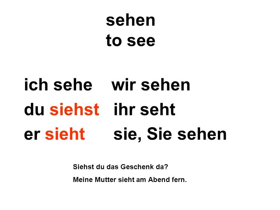 sprechen to speak ich spreche wir sprechen du sprichst ihr sprecht er spricht sie, Sie sprechen Sprichst du Deutsch.