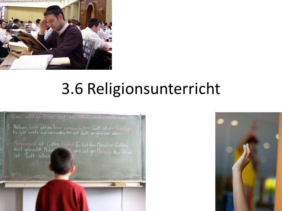 3.6 Religionsunterricht