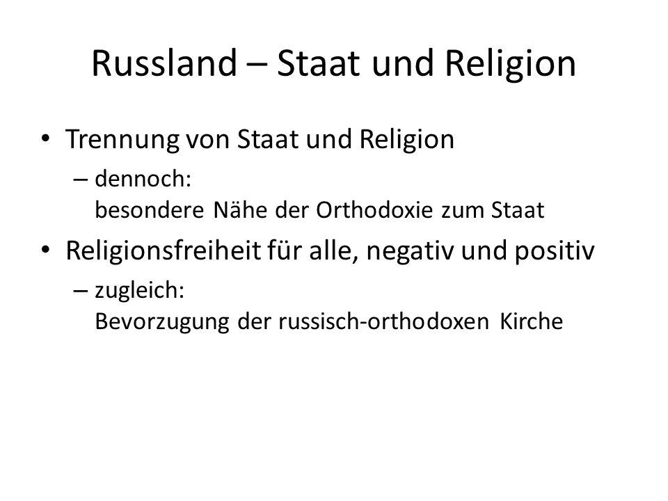 Russland – Staat und Religion Verfassung : Artikel 14 1.