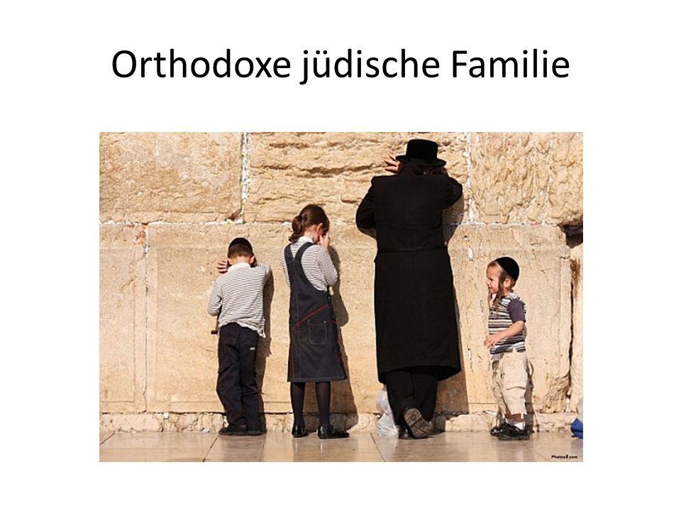 Orthodoxe jüdische Familie