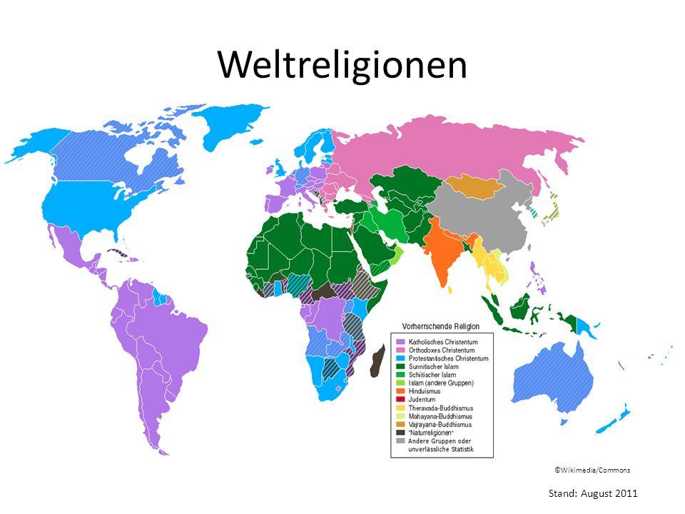 Weltreligionen in Deutschland (Stand: 2009)