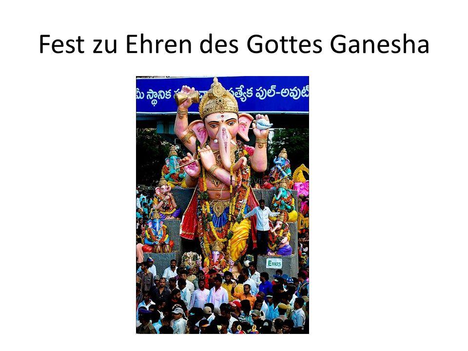 Fest zu Ehren des Gottes Ganesha © Vijay Bandari/Wikimedia Commons