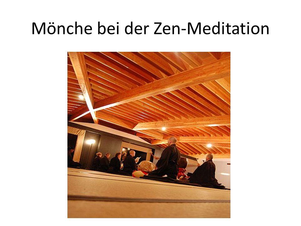 Mönche bei der Zen-Meditation