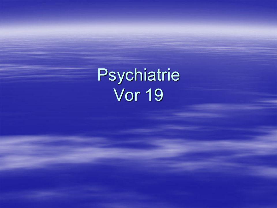 Psychopharmaka im höheren Lebensalter Etwa 25% der über 65-jährigen ist psychisch krank.