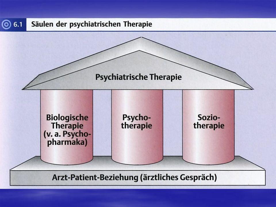 Besonderheiten der psychiatrischen Therapie: Der Krankheitsbegriff ist bei leichteren Störungen nicht immer scharf von der Spielbreite des Normalen abzugrenzen.