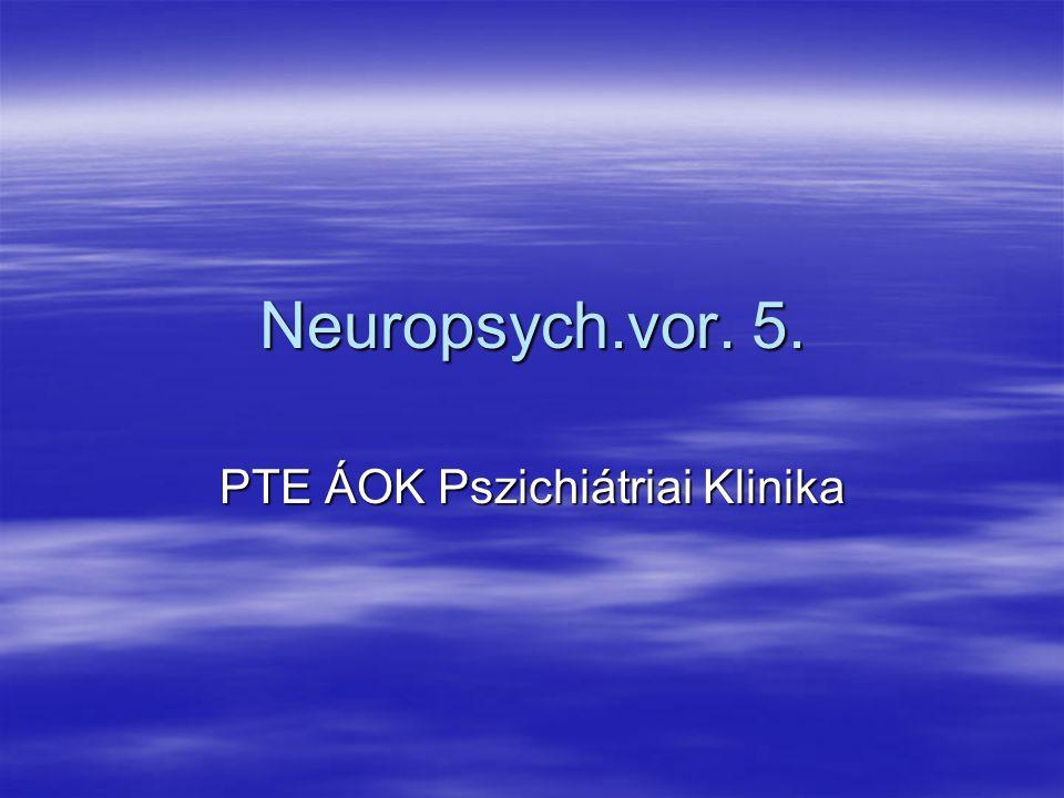 Neuropsych.vor. 5. PTE ÁOK Pszichiátriai Klinika
