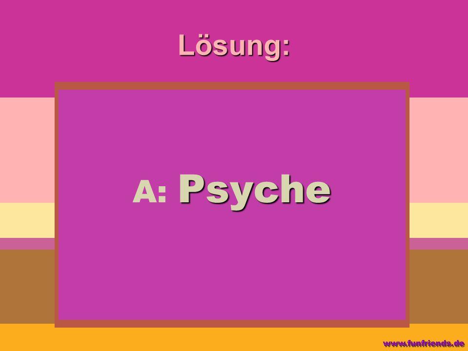 Lösung: Psyche A: Psyche