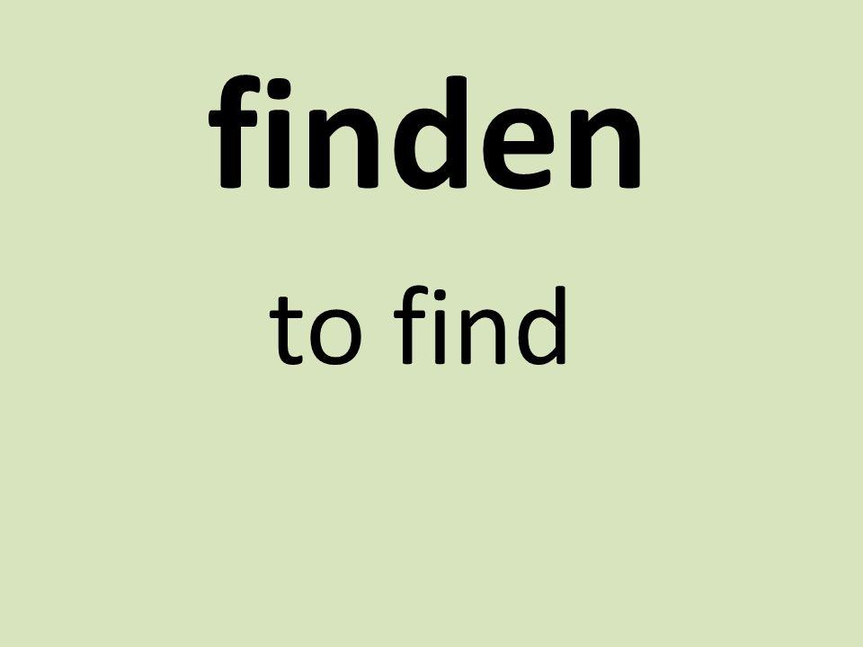 finden to find
