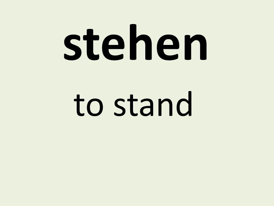 stehen to stand