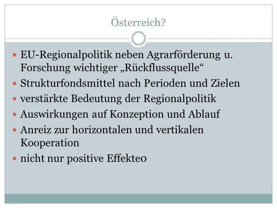 Österreich. EU-Regionalpolitik neben Agrarförderung u.