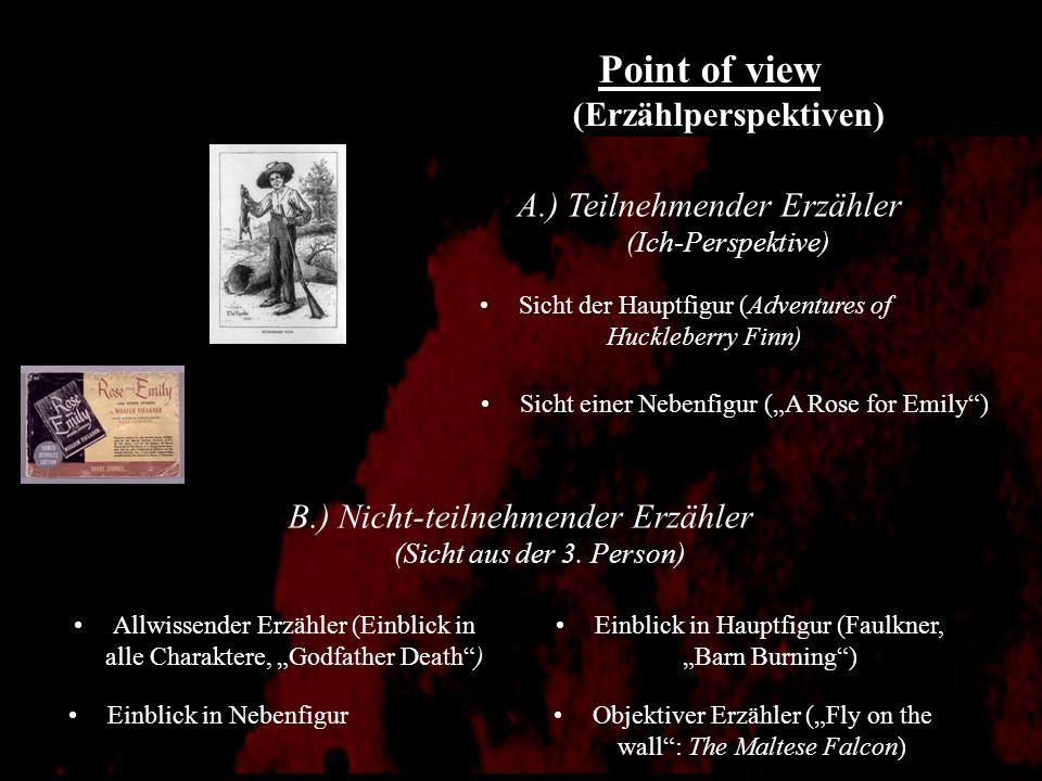 Histoire: Nuklearform der Erzählung Chronologische Zeit vs. Erzählzeit - A Rose For Emily: assoziative Verkettung von Erinnerungen (Zeitsprünge) Histo