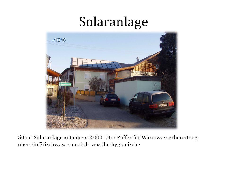 Solaranlage 50 m² Solaranlage mit einem 2.000 Liter Puffer für Warmwasserbereitung über ein Frischwassermodul – absolut hygienisch -