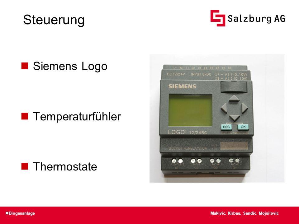 Steuerung Siemens Logo Temperaturfühler Thermostate Makivic, Kirbas, Sandic, Mojsilovic Biogasanlage