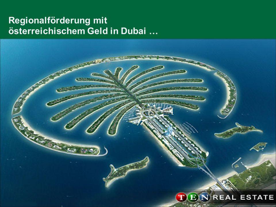 Biomassehöfe / Mag. Christian Metschina 30. Jänner 2009 / Folie 19 Regionalförderung mit österreichischem Geld in Dubai …