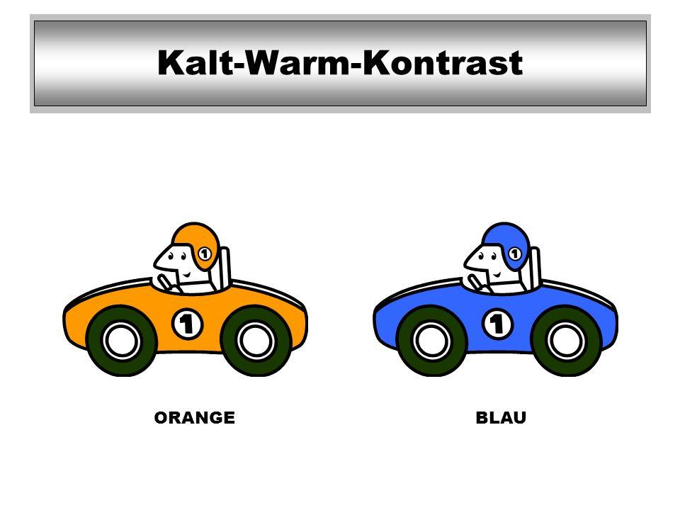 ORANGEBLAU Kalt-Warm-Kontrast