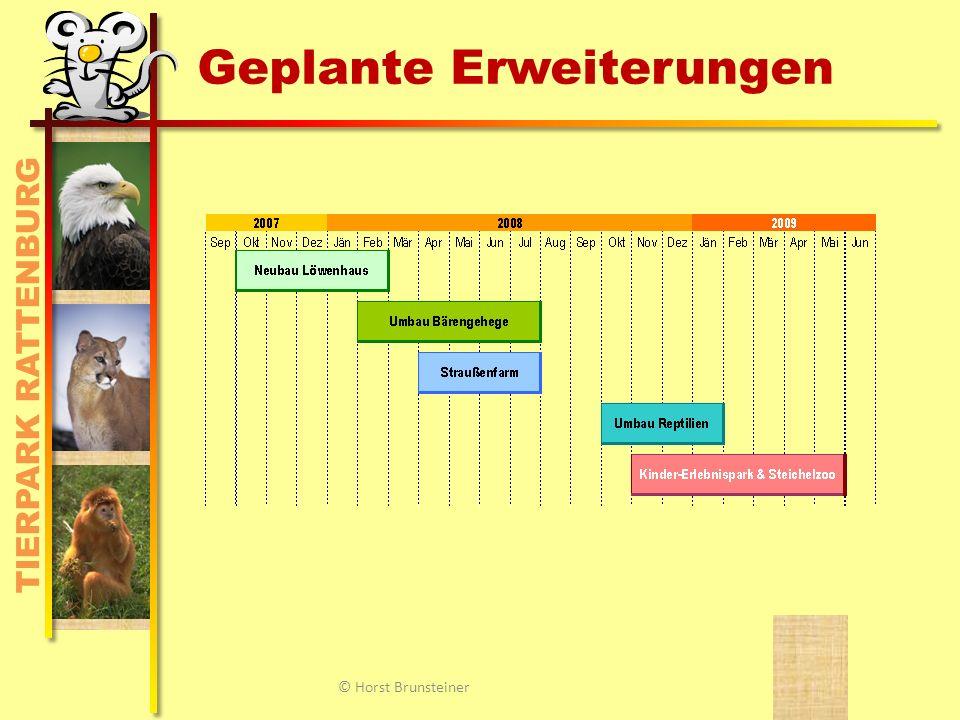 TIERPARK RATTENBURG Finanzierung des Parks BundLandGemeindeEintrittSpenden © Horst Brunsteiner