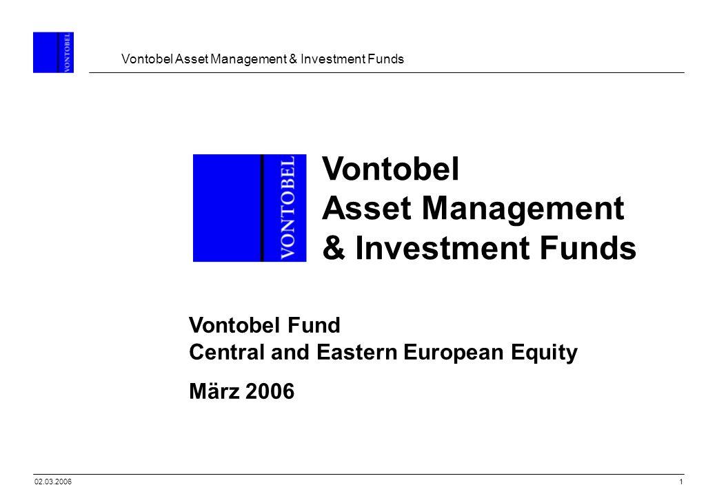Vontobel Asset Management & Investment Funds 2202.03.2006 Erfolgreiche Beispiele – Euro Konvergenz CZ, SK PL HU