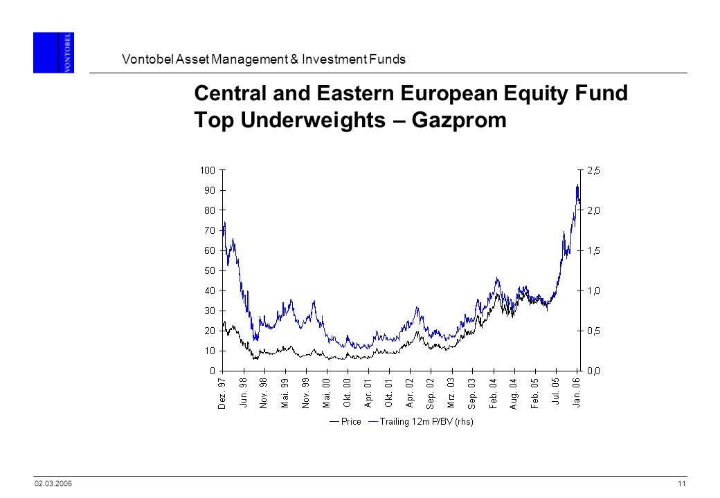 Vontobel Asset Management & Investment Funds 1102.03.2006 Central and Eastern European Equity Fund Top Underweights – Gazprom