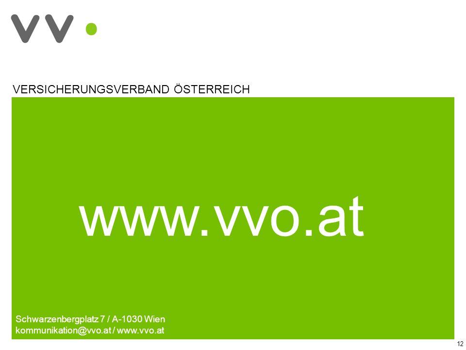 www.vvo.at Schwarzenbergplatz 7 / A-1030 Wien kommunikation@vvo.at / www.vvo.at 12 VERSICHERUNGSVERBAND ÖSTERREICH