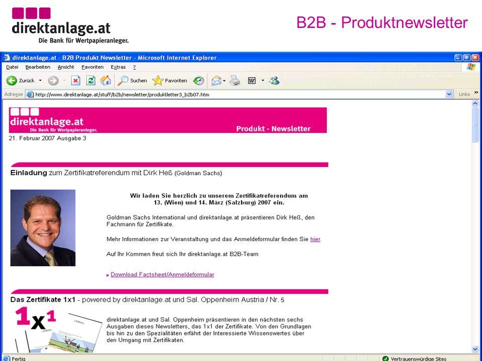 B2B - Produktnewsletter