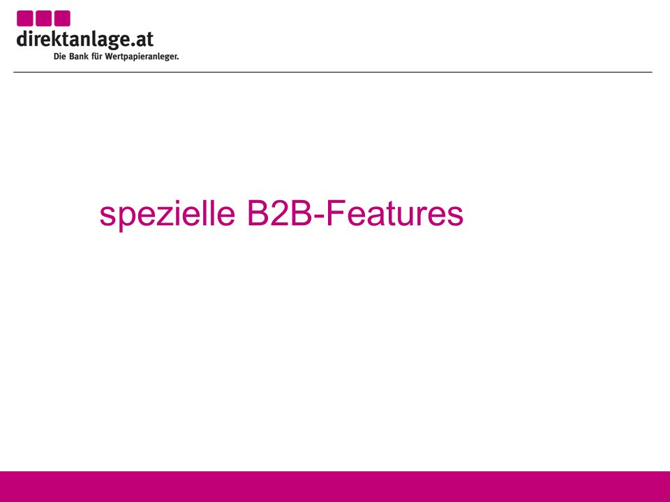spezielle B2B-Features