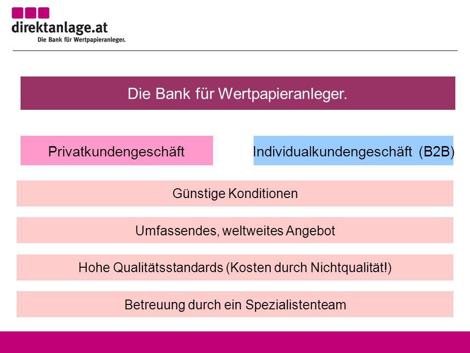 Die Bank für Wertpapieranleger.